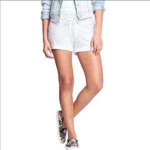 Old Navy Linen Cotton Blend Drawstring Shorts